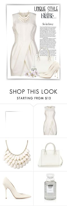 """""""le dîner en blanc"""" by ritadolce ❤ liked on Polyvore featuring Bensimon, Vera Wang, Victoria Beckham, Malone Souliers and Creed"""