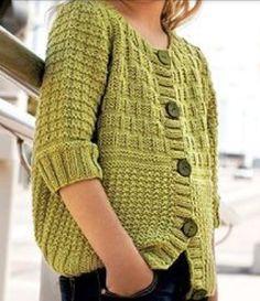 f7f50b26c866 Girls knit cardigan free pattern