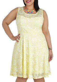 Lemon Drop By Dress in Plus Size, #ModCloth