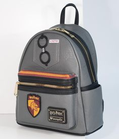 087b3b7015 Loungefly Grey Leatherette Harry Potter Mini Backpack