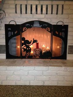 Disney fireplace screen / when we have a fireplace this is a must @Dave Bird Chalagonian