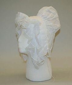 Cap  Date:ca. 1830Culture:BritishMedium:cotton