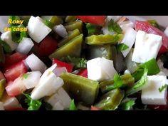 Comida mexicana ENSALADA DE NOPAL receta saludable / Rony en casa