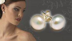 GoGroopie Feel Good Deals: White Flat Pearl Earrings