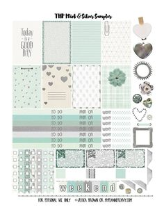 My Planner Envy - Mint & Silver Sampler for THP. (There will also...