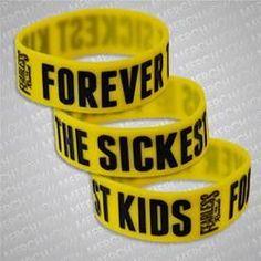 FOREVER THE SICKEST KIDS (YELLOW LOGO) WRISTBAND