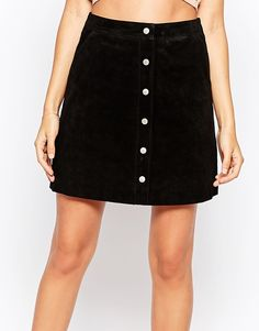 Image 3 ofWarehouse Suede A Line Skirt