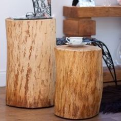 Pillars of Oak Side Table