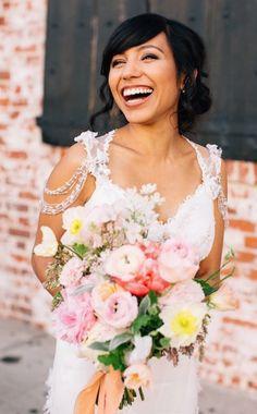 Beautiful wedding bouquet idea; photo: Jen Rodriguez