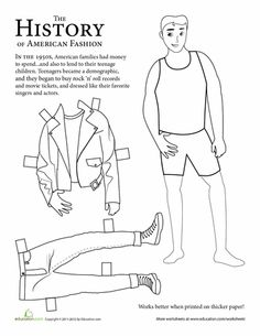 Vintage coloring pages 1950s ~ Old Fashioned Paper Doll | Paper Dolls | Paper dolls ...