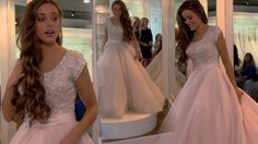 Jessa Duggar Selects Wedding Gown In Kids And Counting' Recap Blush Dresses, Modest Wedding Dresses, Wedding Gowns, Flower Girl Dresses, Bridesmaid Dresses, Wedding Flowers, Prom Dresses, Jessa Duggar Wedding Dress, Duggar Girls