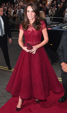 Kate Middleton stuns in red for West End opening night of '42nd Street'