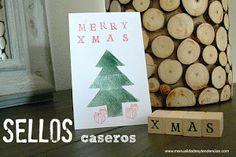 7 ideas de packaging navideño: sellos caseros   http://bizcochosysancochos.blogspot.com/