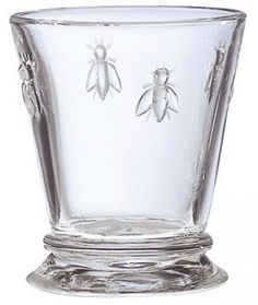 provencal bee glassware.  Good quality, reasonable price, many different pieces in the collection.