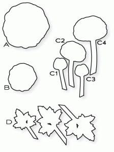Papertrey Ink - Cutting Garden Die Collection (set of 4)