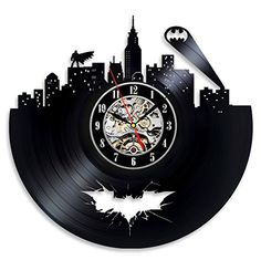 Batman Arkham City Logo Best Wall Clock - Decorate your home with Modern Large Superhero Art - Gift for friend, man and boy - Win a prize for a feedback Vinyl Evolution http://www.amazon.com/dp/B0182IZU4C/ref=cm_sw_r_pi_dp_7lR-wb0NK29SB