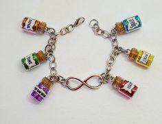 Mind Stone, Soul Stone, Geek Jewelry, Cute Jewelry, Film Marathon, Marvel Clothes, Bottle Charms, Geek Fashion, Girls Necklaces