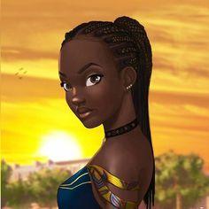 so beautiful even in paint..melanin baby