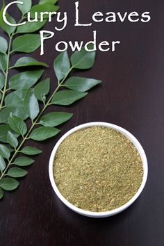 Curry Leaves powder or karivepillai podi is a dry version of the curry . Podi Recipe, Curry Leaves, Tamarind, Chutney, Indian Food Recipes, Sauces, Powder, Meals, Dishes