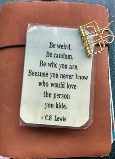 Be Weird Quote Dashboard, Traveler's Notebook Dashboard, Planner Dashboard, Midori Dashboard by DeckYourPlanner on Etsy