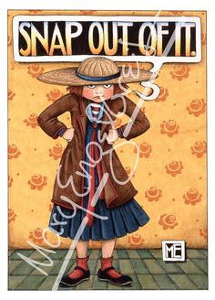 "Front reads: Snap Out of It Inside reads: Blank Measures 5"" x 7"" Mary carefully selected a combination of best-selling classics and brand new images for the Paperworks collection. Each one is uniquely"