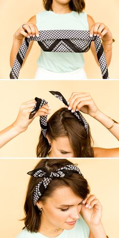 How to Style a Square Bandana - The Oh-So Bow Headband