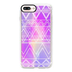 iPhone 7 Plus/7/6 Plus/6/5/5s/5c Case - Purple Multicolor Tribal ($40) ❤ liked on Polyvore featuring accessories and tech accessories
