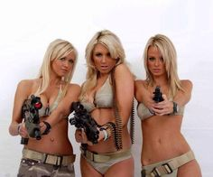 Hot gun girls added a new photo. Airsoft, My Kind Of Woman, Female Soldier, Armada, Hot Blondes, Just In Case, Sexy Women, Poses, Firearms