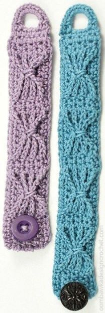 Sands of Time 1 Hour Bracelet Free Crochet Pattern (2 sizes) @OombawkaDesign ༺✿ƬⱤღ  https://www.pinterest.com/teretegui/✿༻