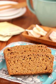 Gluten-Free Gingerbread -- moist, spicy & secretly skinny. A festive holiday treat!