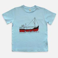 Sky Blue Puffer Organic Cotton Kids T-shirt
