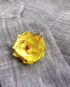 Lapel Flower Pin Yellow Satin Custom Mens Boutonniere by exquisitelapel on Etsy https://www.etsy.com/listing/241847701/lapel-flower-pin-yellow-satin-custom
