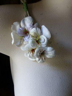 Etsy の Ivory Pansies Velvet for Bridal Headbands by MaryNotMartha
