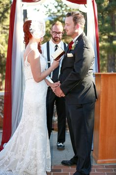 Rustic Colorado wedding at Boettcher Mansion | Dress: The Bridal Collection - Denver Bridal Shop