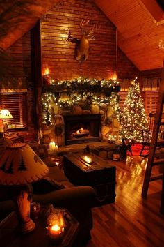 Rustic Christmas at the Cabin