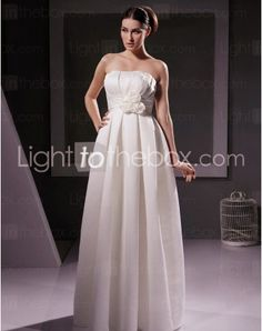 Just as pregnant brides should put on maternity wedding dresses, every bride also ought to pick out their own special and fitted wedding dresses. Here is the Strapless Floor-length Sheath/Column Wedding Dresses With Draped Ruched right for you. Strapless gown with sweetheart pleated asymmetrical bodice, mille-feuille organza full skirt,