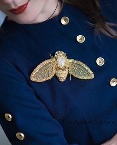 Brooch Busy Fly by #eveanders.  Брошь Муха-Цокотуха от #eveanders.