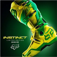 Fox Instinct Boot this color, come to momma! Dirt Bike Boots, Mx Boots, Dirt Bike Gear, Dirt Biking, Motocross Love, Motocross Gear, Riding Gear, Riding Boots, Atv Gear