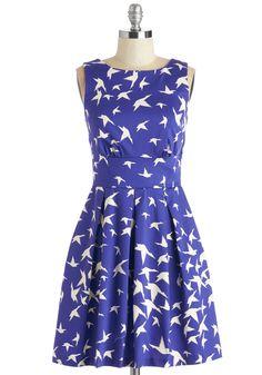 Ain't We Haute Fun? Dress in Birds | Mod Retro Vintage Dresses | ModCloth.com