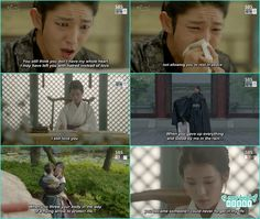 King cried while reading Hae Soo's letters when she started to feel him someone special - Moon Lovers Scarlet Heart Ryeo - Episode 20 Finale (Eng Sub)