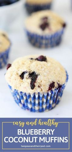 Make going back to school a lot easier with a special breakfast treat! Blueberry Coconut Muffins are easy to whip up and take about 20 minutes to bake. Bursting with blueberries and triple the coconut, this recipe is what you need on your menu! Save this and try it! Healthy Muffin Recipes, Healthy Muffins, Healthy Snacks, Baking Recipes, Snack Recipes, Dessert Recipes, Desserts, Easy Breakfast Muffins, Coconut Muffins