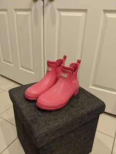 b57ef1da3c3a Hunter for Target Womens Pink Waterproof Ankle Boots - Size 11  fashion   clothing  shoes  accessories  womensshoes  boots (ebay link)   ...