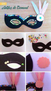 40 DIY mask ideas for kids carnival decoration Mardi Gras egg box simply carnival carnival feathers Carnival Decorations, Diy Carnival, Carnival Masks, Carnival Crafts Kids, Kids Crafts, Felt Crafts, Diy And Crafts, Arts And Crafts, Paper Crafts