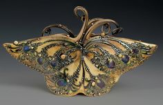 Carol Long   Ceramic Butterfly  Jennifer, you must see this pottery! So beautiful! Thank you mom