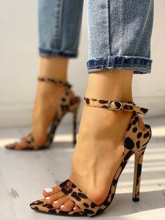 90d7b05863962 Shop Peep Toe Ankle Strap Thin Heeled Sandal – Discover sexy women fashion  at IVRose