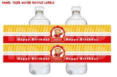 Daniel Tiger Water Bottle Labels, Daniel Tiger Favor Labels Daniel Tiger Birthday Party Prinatbles