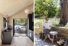 Den vakre naturen kommer helt inn i sommerhuset gjennom de store vinduene – helt perfekt for Lene som mener at utsikt og åpne landskap er ren mentalhygiene! Kjærligheten til naturen gjenspeiles også i innredningen i sommerhuset, der treverk, kurv, keramikk og bambus dominerer Bauhaus, Home Projects, My House, Cottage, Cabin, Living Room, Interior, Outdoor Decor, Plywood