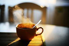 Pause café un matin d'hiver