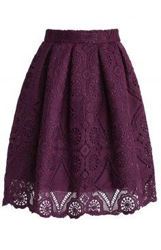 Purple Dream Full Lace Skirt - Retro, Indie and Unique Fashion