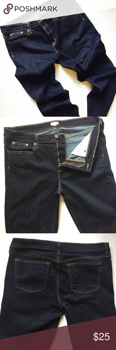 J Crew Stretch Jeans NWOT J Crew straight leg stretch jeans, indigo, these are soft and super comfortable, wear these rolled up at the bottom with a pair of cute platform wedges, for a trendy look, inseam 30 J Crew Jeans Straight Leg
